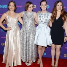 The cast of Girls at the season 3 premier/Image: lenadunham via Instagram
