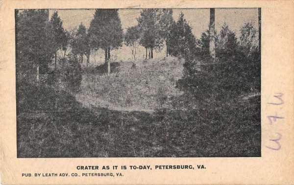 Petersburg Virginia Crater Scenic View Antique Postcard K32506