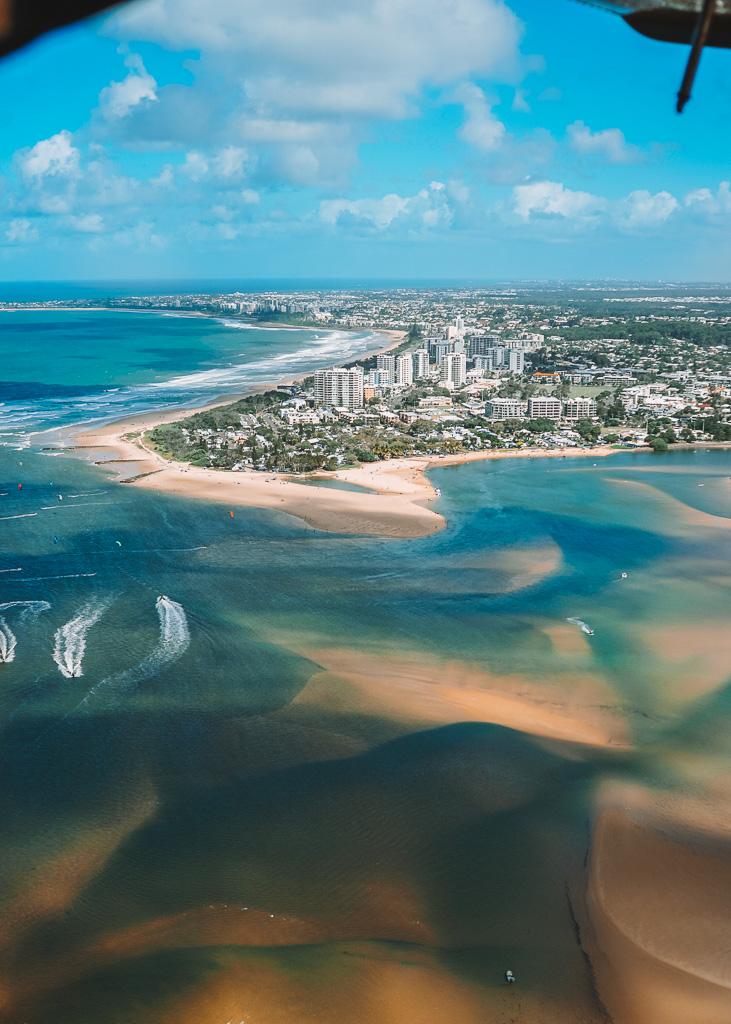Seaplane over Sunshine Coast