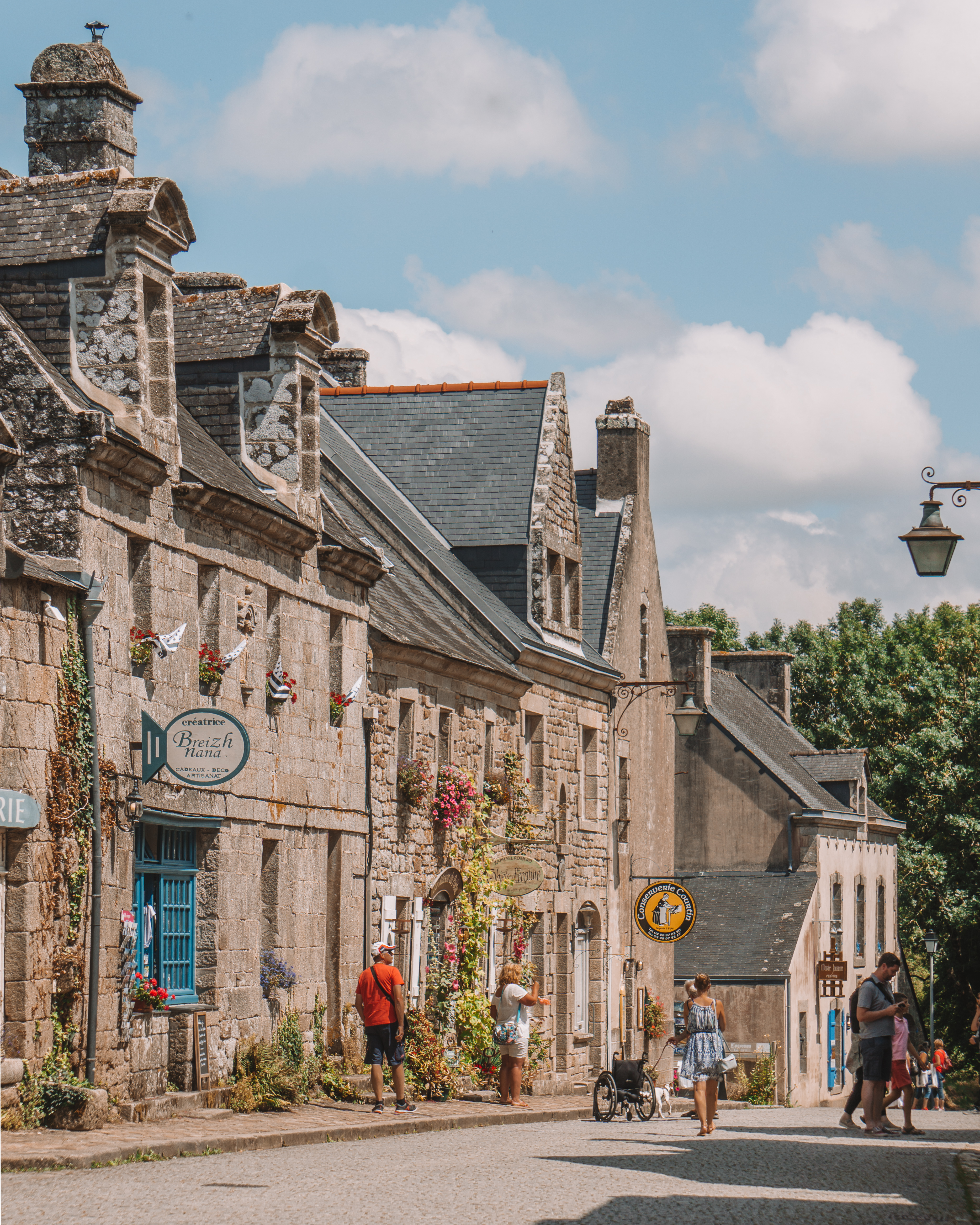 The beautiful Breton town of Locronan, France