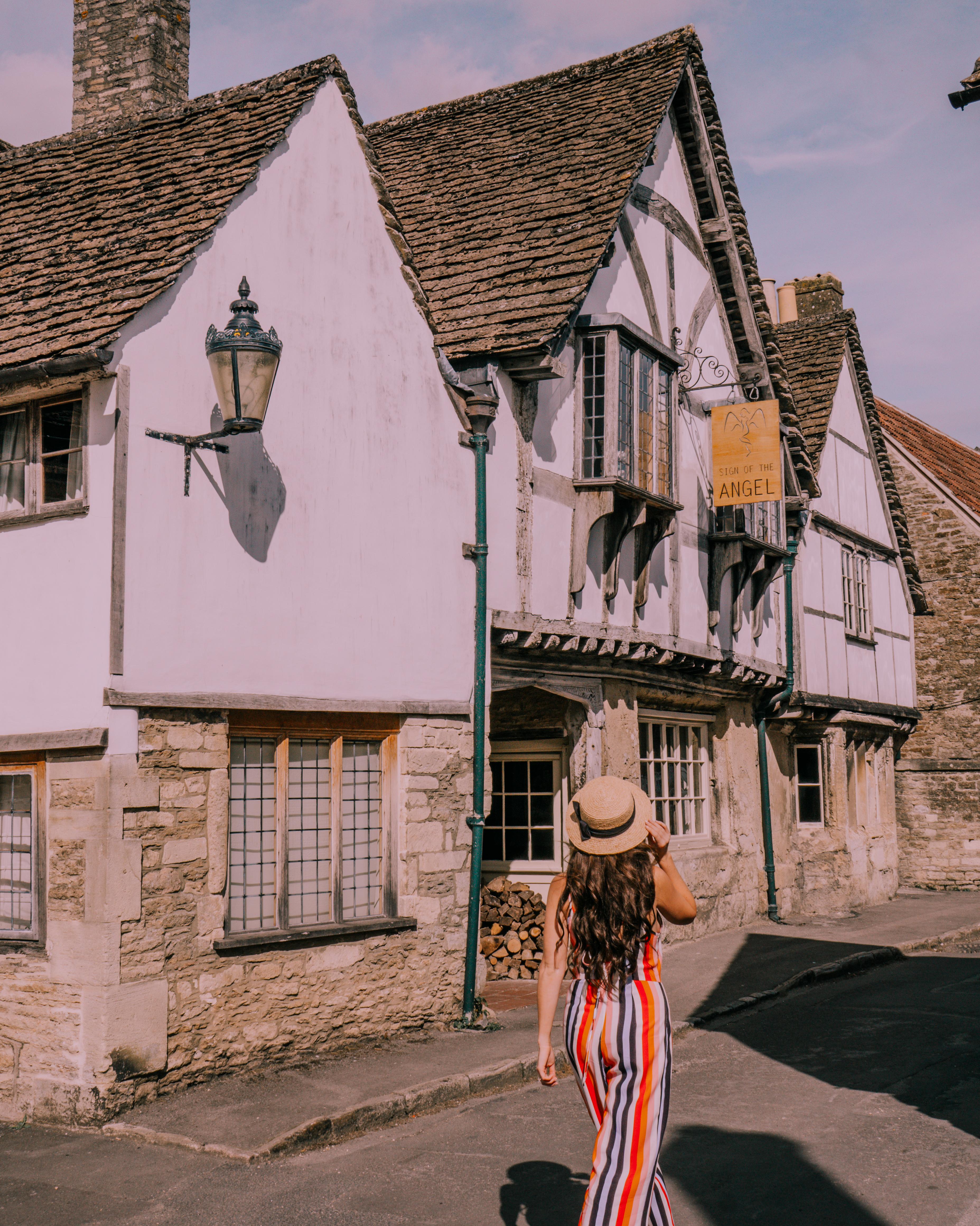 Walking through Lacock, Wiltshire