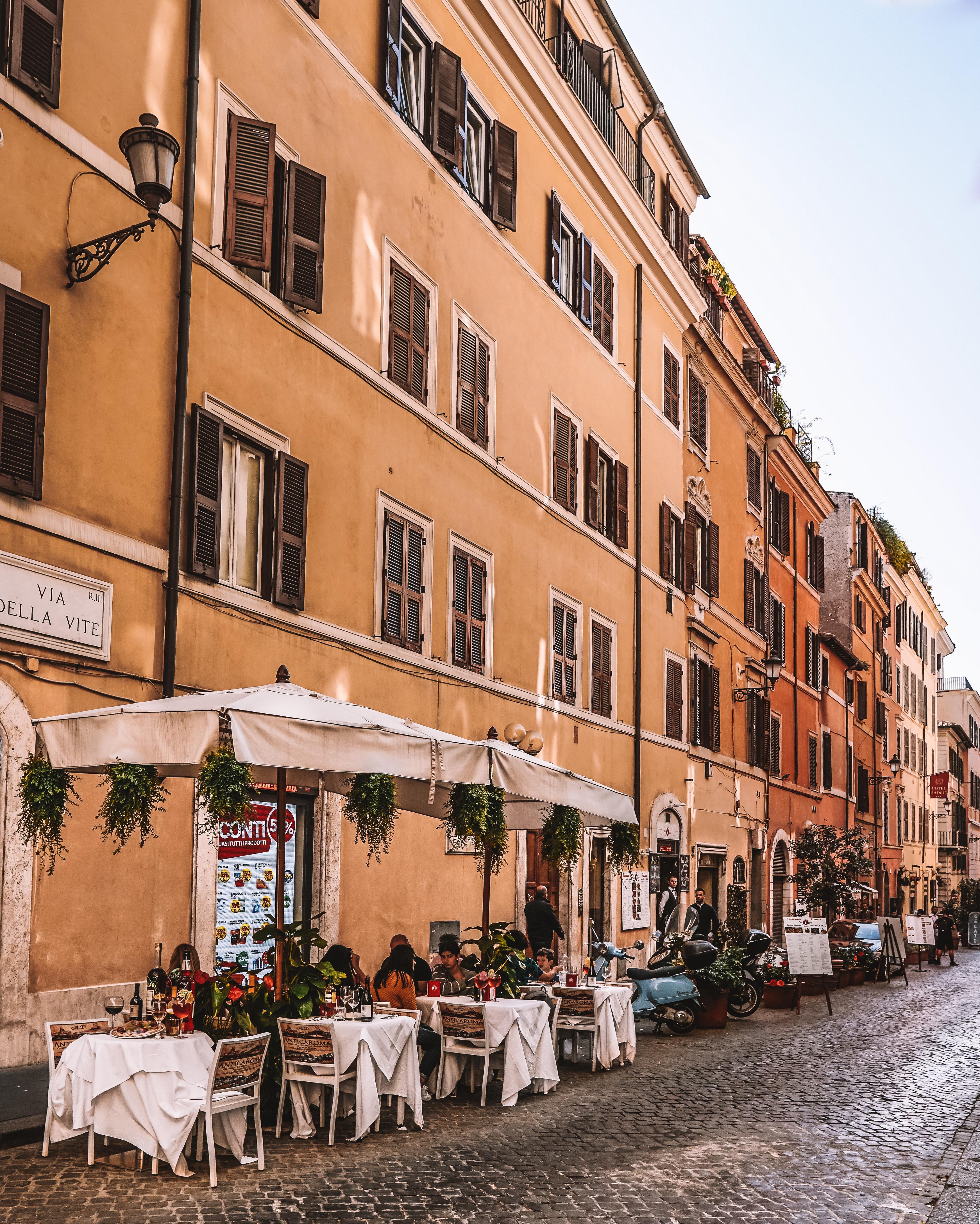 Walking through Rome, Italy