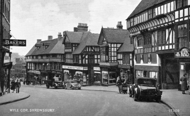 Postcard of Shrewsbury