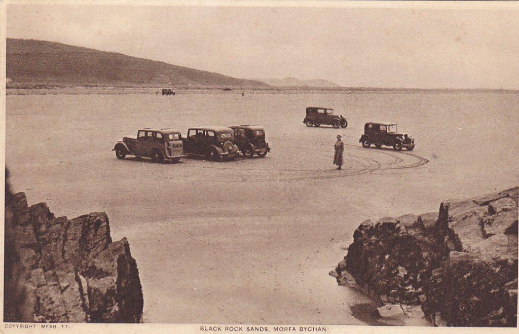 Postcard car on beach