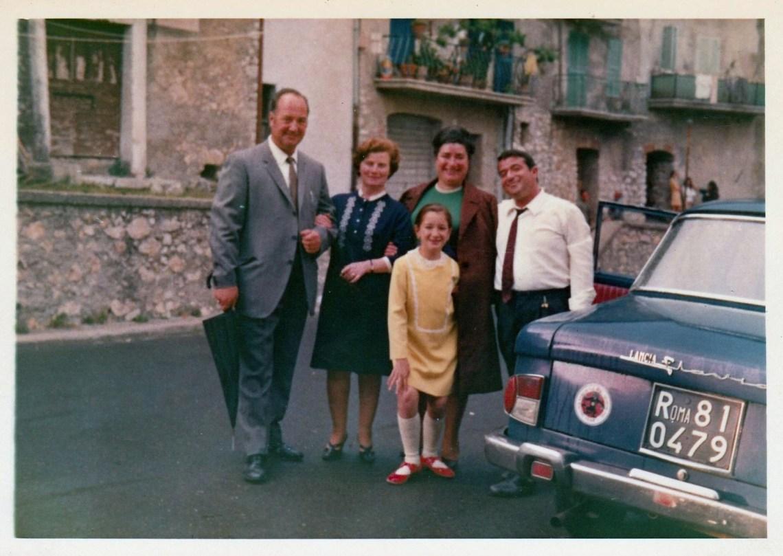 Classic Italian Lancia Flavia saloon car