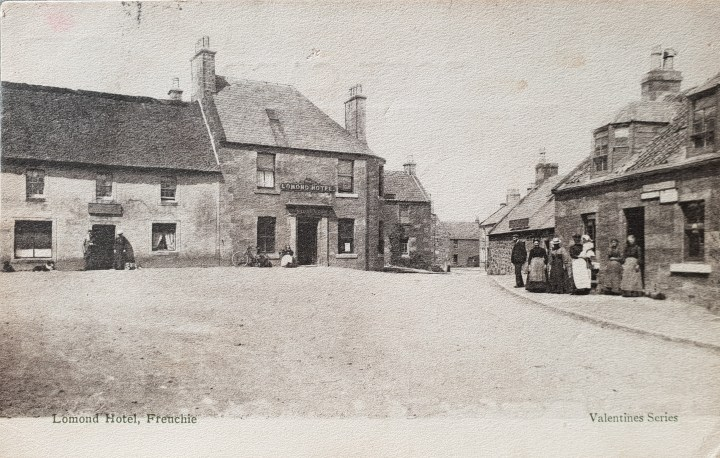 Freuchie in Scotland before the war memorial