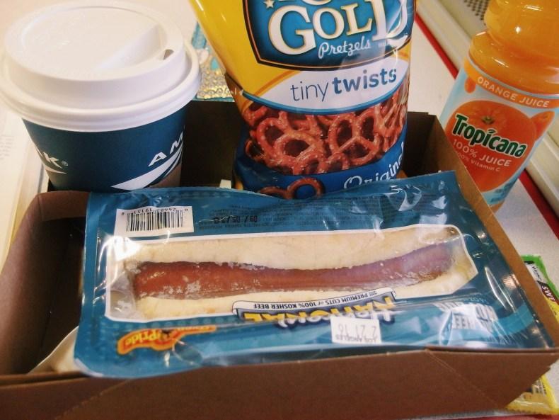 Amtrak Dining Car Food Hotdog