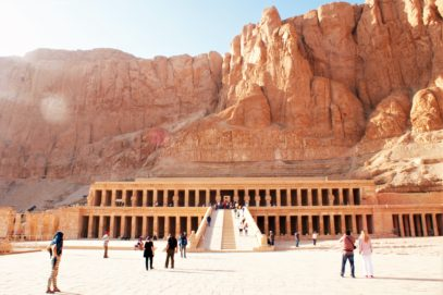 The construction of the temple was overseen by Senenmut, Hatshepsut's royal architect, her daughter's teacher, and, according to some, was also her lover.