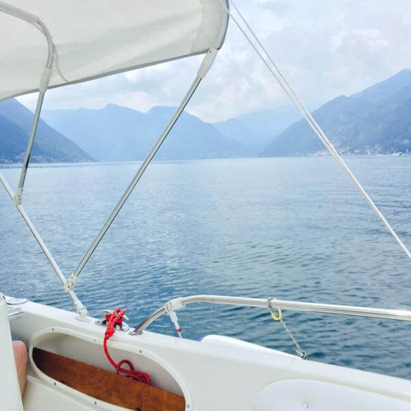 Boating on Lake Como