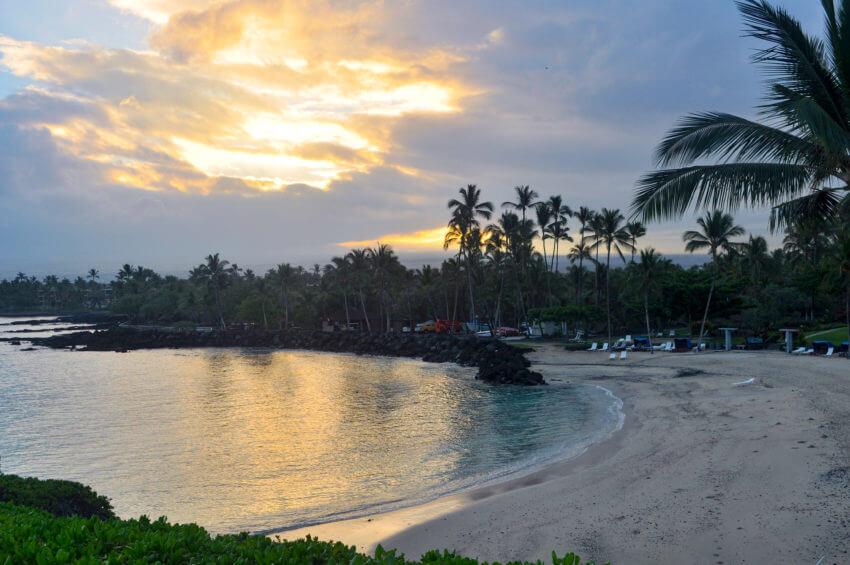 diving kona coast hawaii beach
