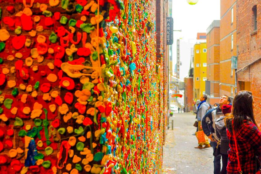 top instagrammable spots gum wall