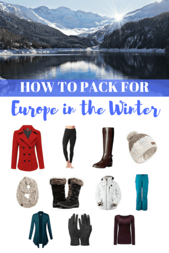 Winter is a great time to visit Europe, as the crowds have died down from tourist season. The weather is colder though, so here's how to pack for Europe in the winter.