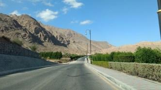 Entering Wadi Dayqah Dam