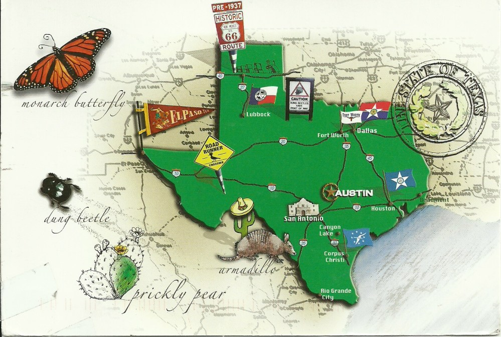 Texas Map Chain postcard comes home (2/2)