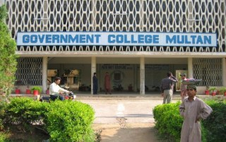 A building with text Government College Multan