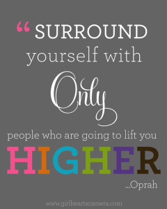 oprah surround yourself only