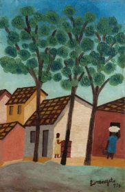 Favela, 1974, óleo sobre tela sobre eucatex, 43x30cm, Galeria Estação