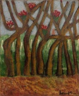 Sem título, 1992, óleo sobre tela sobre eucatex, 58x48cm, Galeria Estação