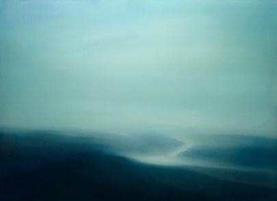 Paisagem azul - 2012 - óleo sobre tela - 130 X 180 cm