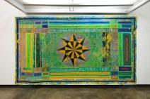 """""""Estrela do Norte"""", 1988 acrílica sobre lona 235 x 422 cm"""