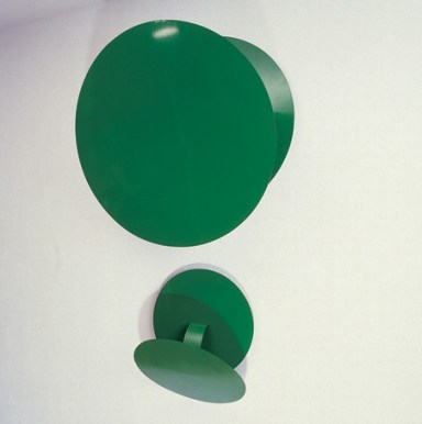 Amazonino | Verde/Verde 1989 Ferro, tinta automotiva 1m, ø70cm 50cm, ø70cm