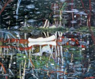 White Canoe 1990-91 Oil on canvas 200.5 x 243 cm