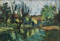 Iberê Camargo, Paisagem, 1941 óleo sobre madeira 24 x 35 cm col. Maria Coussirat Camargo Fundação Iberê Camargo, Porto Alegre