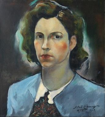 Iberê Camargo, Retrato de Maria Coussirat Camargo, 1943 óleo sobre tela 52 x 46,5 cm col. Maria Coussirat Camargo Fundação Iberê Camargo, Porto Alegre