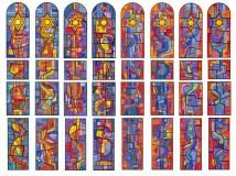Roberto Burle Marx - projeto de mosaico para Sinogago do Guarujá, encomendado e não executado pela família Safra