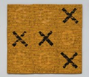 Jogo da Velha, 1993—1994 série A4 - XP/OA técnica mista 61 x 65 cm, Cildo Meireles