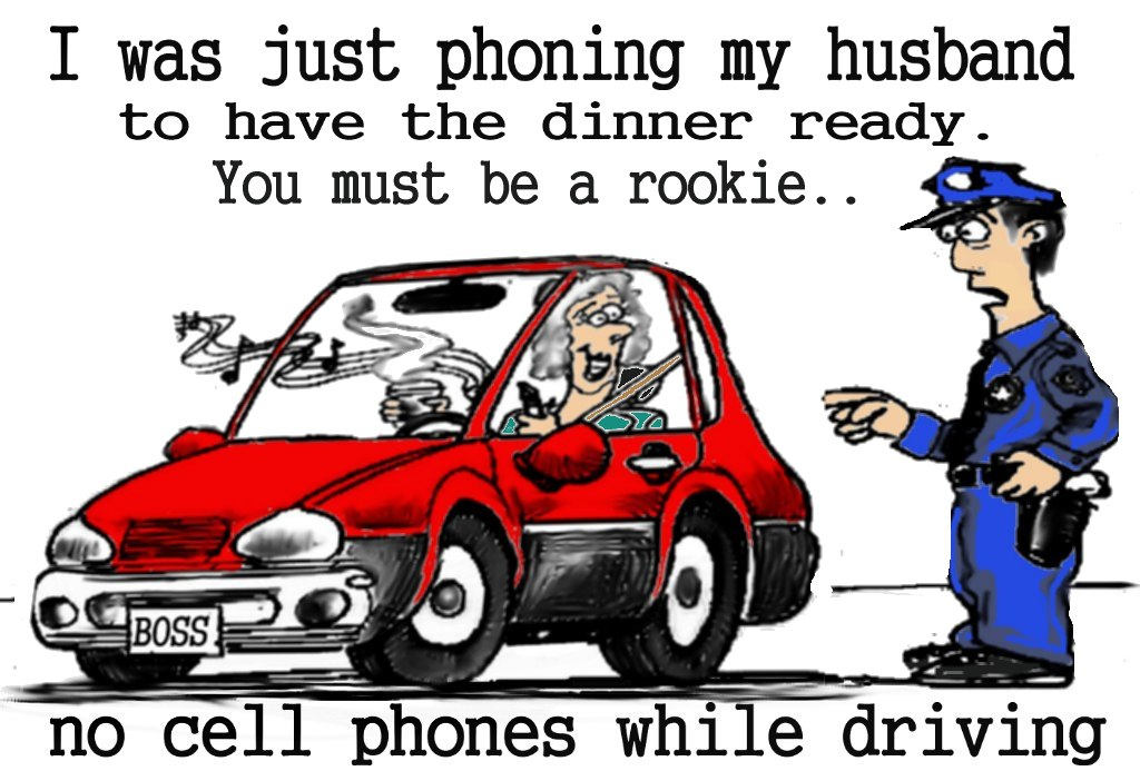 cell phone cartoons