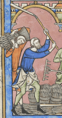 Peasants working c. 1250