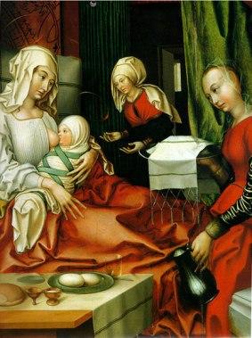 Hans Fries, Birth of Mary. Oil on Panel, German 1512. Kunstmuseum, Basel. Photo: Hans Hinz/Artothek