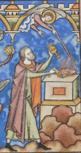 Man in a long cape, c. 1250