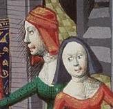 Two women wearing hoods, c. 1470
