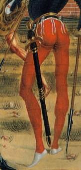 St Bernardino posthumously heals the wounds of Giovanni Antonio Tornano, who has been hurt in an ambush.