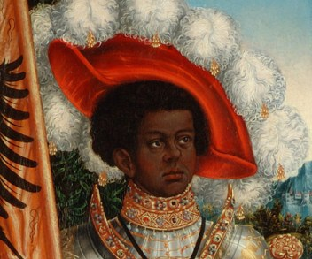 Knight saint with a wonderful beret/bonnet, c. 1520–25