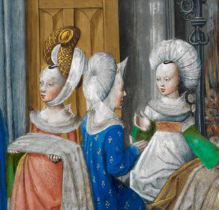 Interesting onion shapped elaborate turbans. 1479