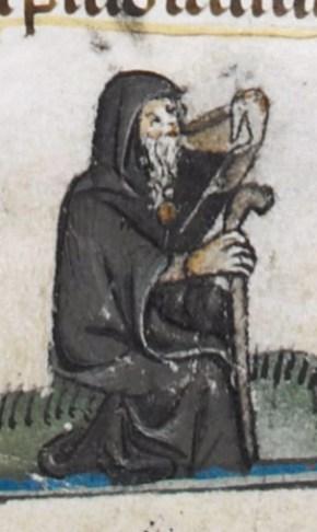 Pilgrim in a cloak