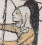 Woman in a simple veil, c 1300 - 1340