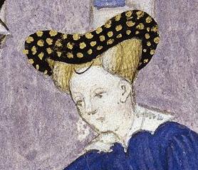 Bourrelet and hairnet, c. 1413