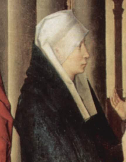 Woman wearing a veil, c. 1470