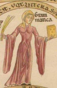 Trumpet sleeved bliaut, c 1180