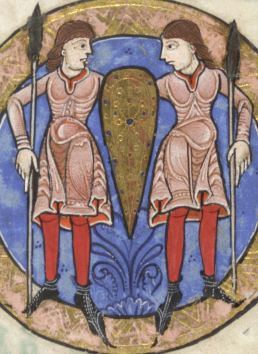 Twins in knee-length tunics c. 1170