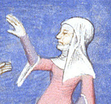 Woman in wimple and veil, 1413