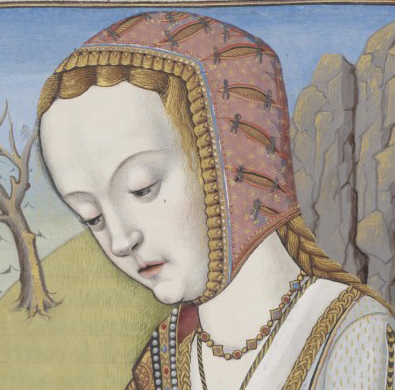 Elaborate hood with all kinds of details, 1497