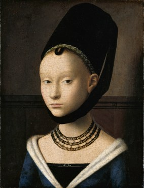 A truncated hennin, fashionable in the Low countries the 1460s. 1470