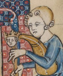 Musician in a coif, 1325-1340