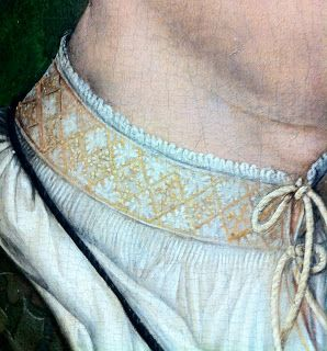 A beautiful shirt collar on a nobleman