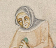 Woman in wrapped veil, 1325-1340